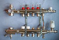 Коллектор теплого пола LUXOR (Италия) 5 выходов в полном комплекте