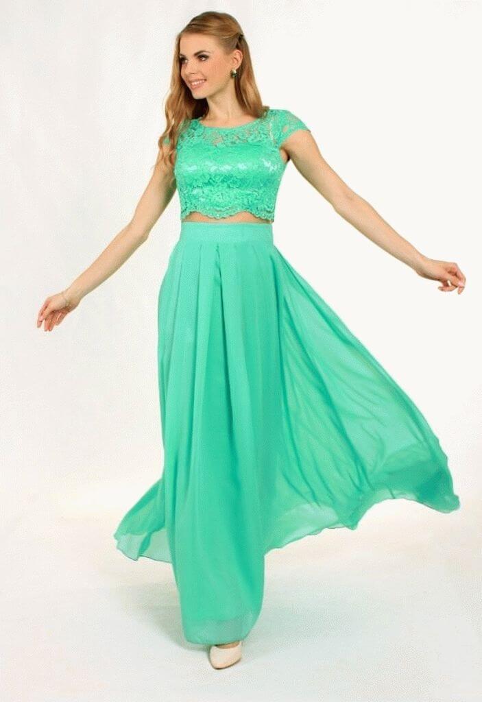 2f6299163c39149 G 0808 8 Платье вечернее с гипюровым лифом - Fabriki | Фабрики одежды в  Киеве