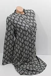 Женское платье-рубашка с длинным рукавом штапель оптом в Хмельницком