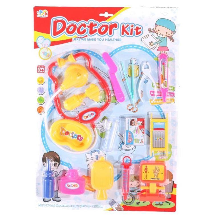Лікар 9905-3-4 стетоскоп, шприц, медичні інструменти, 14 предметів, 4види, на листі, 31,5-45-3,5 см