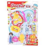 Лікар 9905-1-2 стетоскоп, шприц, медичні інструменти, 15 предметів, 4види, на листі, 31.5-45-3,5см