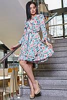 Платье 12-1114 - голубой: S M L XL, фото 1