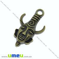 Подвеска металлическая Амулет Дина Винчестера, Античная бронза, 32х19 мм, 1 шт. (POD-003355)