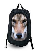 Рюкзак городской с принтом Волк.