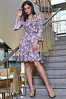 Платье 12-1114 - серый: S M L XL, фото 1
