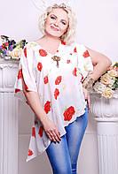 Блуза туника женская большого размера Модница AN размер 48-54