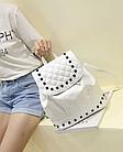 Рюкзак женский PU кожзам. с фурнитурой 29 см - 25 см. - 14 см., фото 5