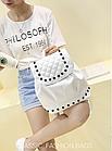 Рюкзак женский PU кожзам. с фурнитурой 29 см - 25 см. - 14 см., фото 8