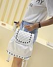 Рюкзак женский PU кожзам. с фурнитурой 29 см - 25 см. - 14 см., фото 10
