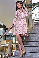 Платье 12-1114 - персик: S M L XL, фото 1