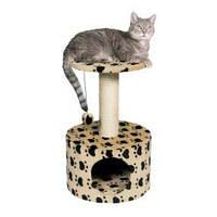 """43704  Домик для кошки """"Toledo"""", """"кошачьи лапки"""", высота 61 см, беж."""
