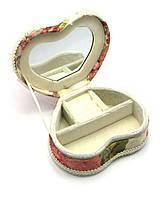 Шкатулка для бижутерии с зеркальцем