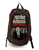 Рюкзак школьный, городской с принтом Zombie.