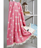 Плед микроплюш 125х170 BARINE Star Throw pembe розовый