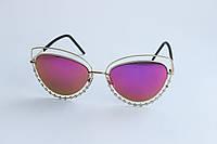 Солнцезащитные очки лисички розового цвета, фото 1