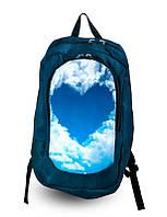 Рюкзак женский, школьный с принтом Сердце.