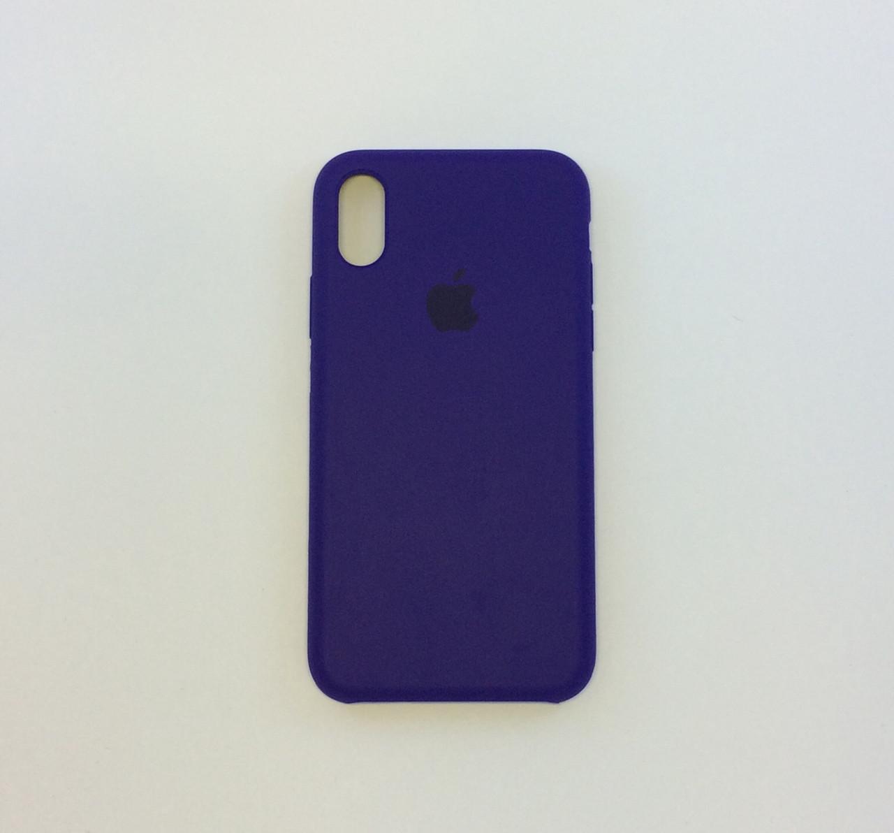 Силиконовый чехол iPhone Xs Max, ультрафиолетовий, copy original