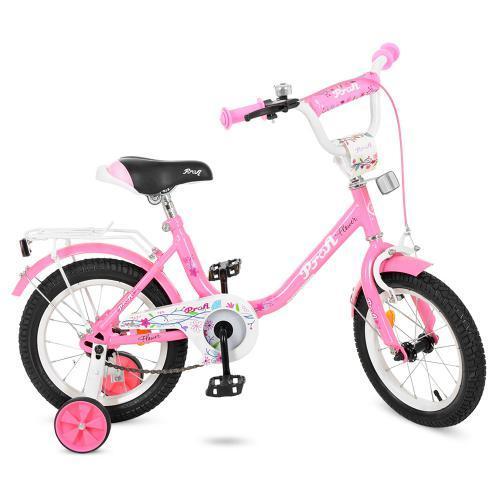 Велосипед дитячий PROF1 14Д Y1481 Flower рожевий