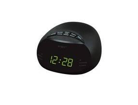 Часы сетевые 908-2 , радио FM  (зеленые)