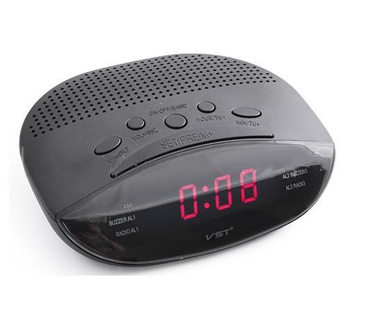 Часы сетевые 908-1 + радио FM+будильник (красные)