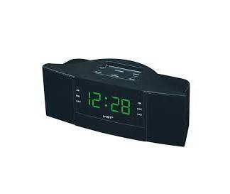 Часы сетевые 907-4 (салатовые)+радио FM, фото 2