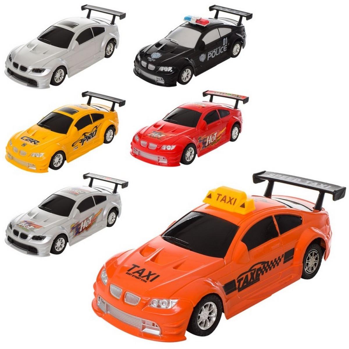 Машинка 801-2-3-4-5 інерційна, 5 видів (1вид-поліція), в кульку, 18-8-5,5 см