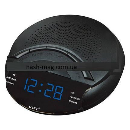 Часы сетевые 903-5 , радио FM  (синие), фото 2