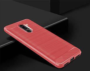 Чохол Carbon для XIaomi Pocophone F1 Червоний