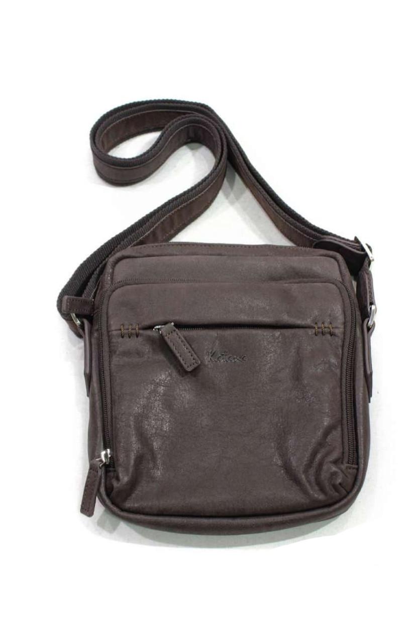 Повсякденна чоловіча сумка через плече з натуральної шкіри
