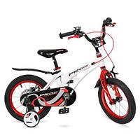 Велосипед детский PROF1 14Д LMG14202 Infinity бело-красный, фото 1