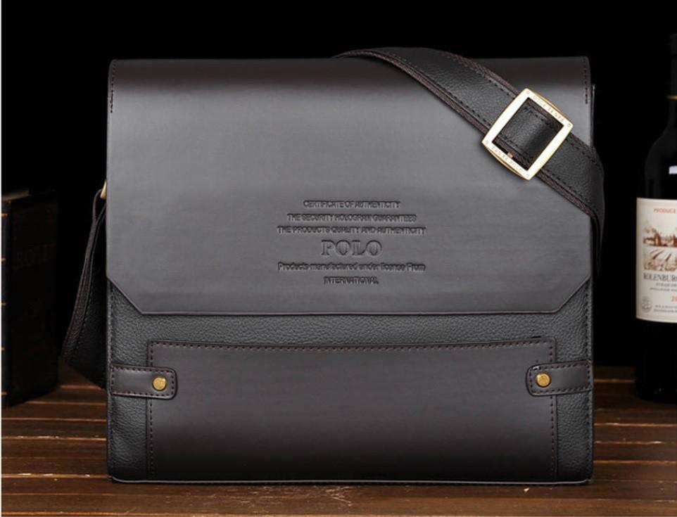 8a834f2f917d ... Каркасная мужская сумка-портфель Polo (Поло), под формат А4, коричневый  цвет ...