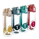 """Бутылка для спорта """"Вдохновение"""" (550 мл) пищевой пластик 047JH, фото 4"""