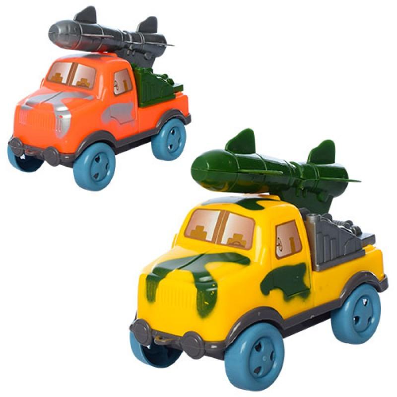 Машинка 44806 військова, інерційна, 2 кольори, в кульку, 12-7-11 см