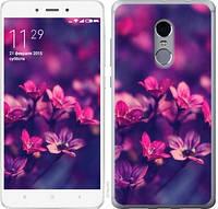 Чехол EndorPhone на Xiaomi Redmi Note 4 Пурпурные цветы 2719c-352-19016 (hub_UmwV95202)