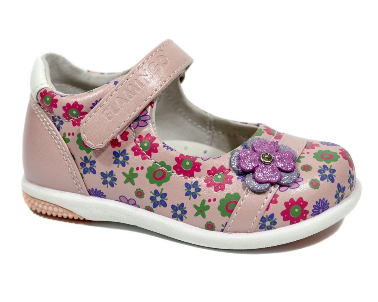 749340dd9 Детские кожаные туфли для девочки, Flamingo pink, 21-22 - Интернет-магазин