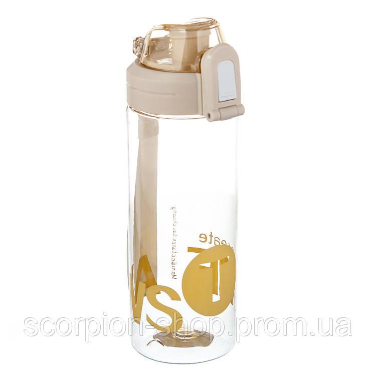 """Бутылка для спорта """"Вдохновение"""" (550 мл) пищевой пластик 047JH"""