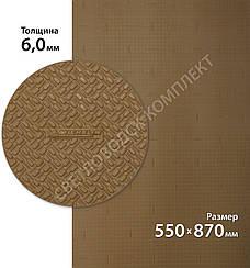 Резина набоечная XA014 ONE MICHELIN (Франция), р. 550*870*6мм, цв. цв. тропик (caramel)