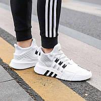 Мужские кроссовки Adidas EQT White|Black (Реплика ААА+), фото 1
