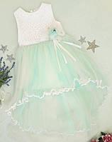 """Красивое и нежное детское бальное платье на девочку """"Мари """" молочный+мята  р. 2 года, фото 1"""
