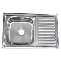 Накладная кухонная мойка Platinum 8050 R Polish 0,7мм