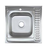 Кухонная мойка Platinum 6060 R Satin 0,6мм