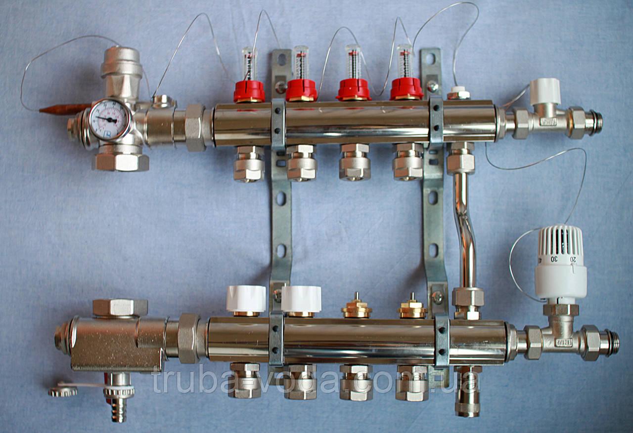 Коллектор теплого пола LUXOR (Италия) 6 выходов в полном комплекте