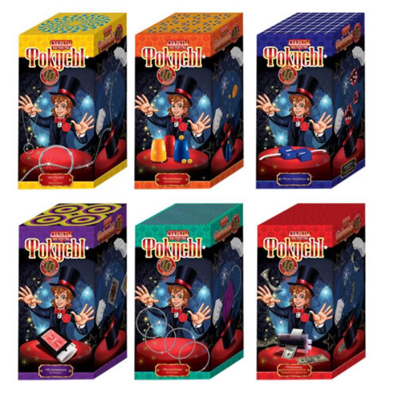 """Набір """"Фокуси 10"""", 10 кращих фокусів F-10-01-08, Danko Toys, в коробці"""