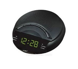 Часы сетевые 903-2 , радио FM (зеленые)