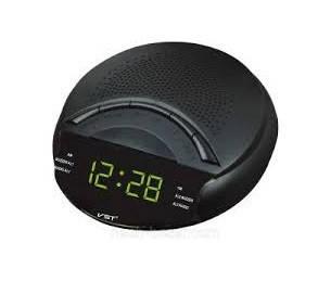 Часы сетевые 903-2 , радио FM (зеленые), фото 2
