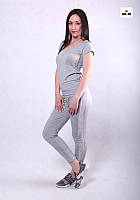 Молодежный женский костюм с лампасами серый р. 42-54