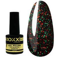 Гель-лак Oxxi №239 - черный с цветными блестками, 8 мл