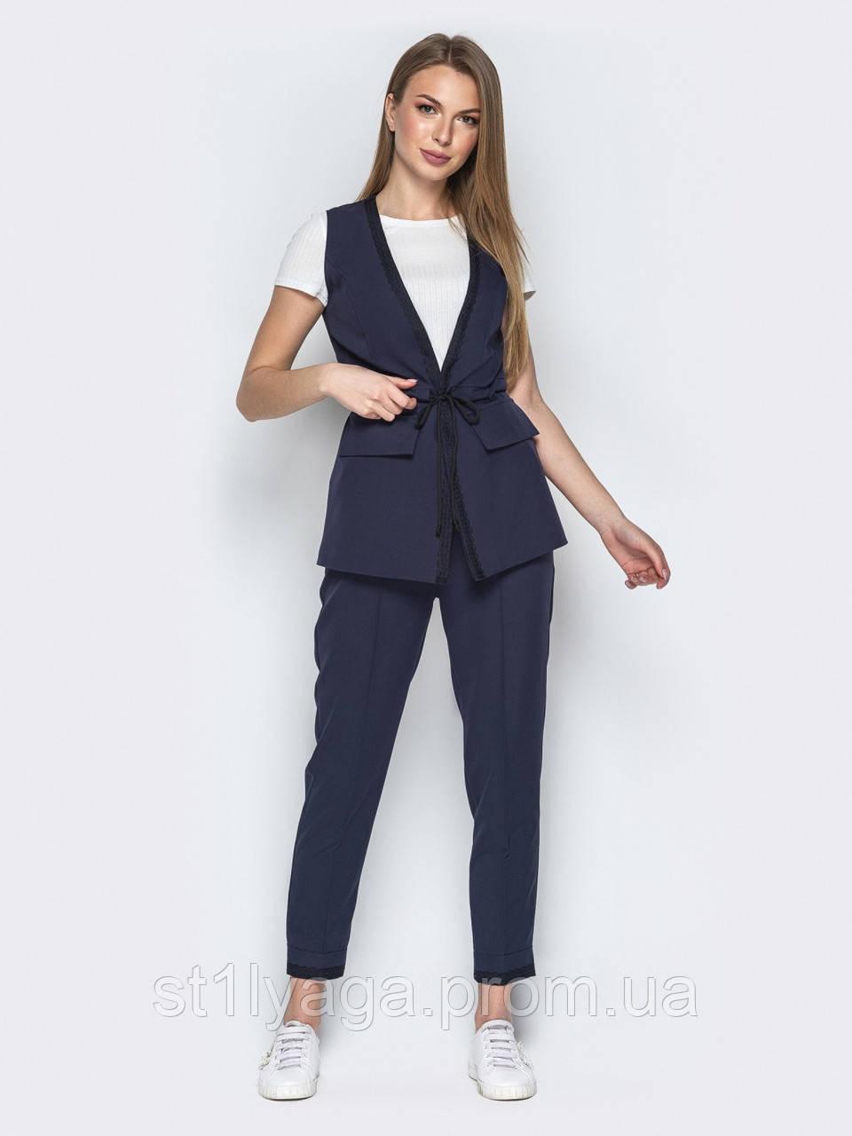 Комфортный комплект-двойка жилет + зауженные брюки