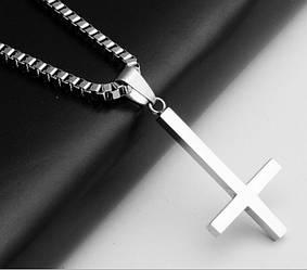 """Кулон """"Перевернутий Хрест"""" [з ланцюжком]"""