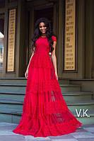 Нарядное вечернее платье в пол от 42 до 54 размера РАЗНЫЕ ЦВЕТА